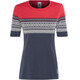 Aclima DesignWool Marius - Camiseta manga corta Mujer - rojo/azul